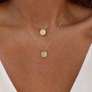 Saint coin necklace